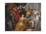 The Judgement of Solomon, C. 1617 Giclée-tryk af Pieter Paul Rubens