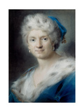 Self-Portrait as Winter, 1731 Giclée-tryk af Rosalba Giovanna Carriera