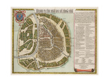 The Moscow Kremlin Map of the 16th Century (Castellum Urbis Moskva), 1662 Giclee Print by Willem Janszoon Blaeu