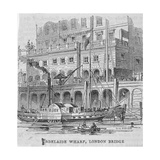 Adelaide Wharf, London Bridge, 1840 Giclee Print by William Henry Prior