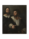 Self-Portrait with a Friend (Double Portrai), 1519 Reproduction procédé giclée par  Raphael