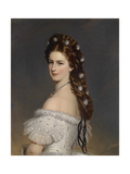 Empress Elisabeth of Austria with Diamond Stars in Her Hair, Ca 1860 Giclee Print by Franz Xavier Winterhalter