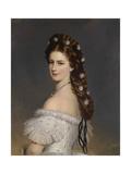 Empress Elisabeth of Austria with Diamond Stars in Her Hair, Ca 1860 Giclee Print by Franz Xavier Winterhalter