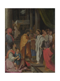 The Marriage of Mary and Joseph, Ca 1590 Giclee Print by Lodovico Carracci
