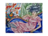 Portrait of the Artist's Sister, 1912 Giclée-trykk av Olga Vladimirovna Rozanova