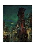 Paris, Porte Saint-Denis, 1923-1939 Giclee Print by Konstantin Alexeyevich Korovin