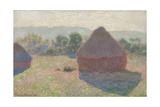 Haystacks, Midday, 1890 Giclee Print by Claude Monet
