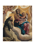Madonna with the Child and Saint Francis, 1605 Giclee Print by Antonio Marziale Carracci