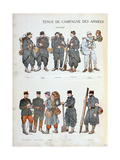 French Army Uniforms, World War One, 1914 Giclee Print
