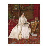 Portrait of Queen Natalie of Serbia in an Elegant Interior, 1890 Giclee Print