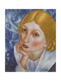 Portrait of Ria, 1915 Giclee Print by Kuzma Sergeyevich Petrov-Vodkin