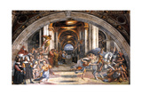 The Expulsion of Heliodorus, 1511-1512 Giclee Print by  Raphael