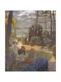The Terrace at Vasouy, the Garden, 1901 Giclee Print by Édouard Vuillard