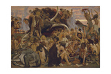 The Stone Age, a Feast, 1883 Giclee Print by Viktor Mikhaylovich Vasnetsov