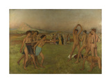 Young Spartans Exercising, Ca 1860 Giclee Print by Edgar Degas