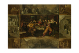 He Parable of the Prodigal Son, 1620 Giclee Print by Frans Francken the Younger