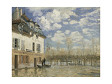 Boat in the Flood at Port Marly, C. 1876 Giclee Print by Alfred Sisley