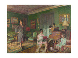 Madame André Wormser and Her Children, 1927 Giclee Print by Édouard Vuillard