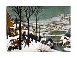 Hunters in the Snow (Winte), 1565 Giclée-tryk af Pieter Bruegel the Elder