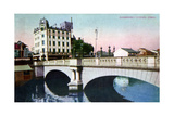 Shinsaibashi Bridge, Osaka, Japan, 20th Century Giclee Print