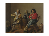 Two Boys and a Girl Making Music, 1629 Giclee Print by Jan Miense Molenaer