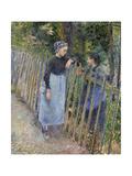 Conversation, Ca 1881 Reproduction procédé giclée par Camille Pissarro