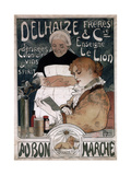 Advertising Poster for the Delhaize Frères and Cie Biscuits, 1900 Giclee Print by Herman Richir
