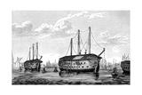 Danish Prison-Ships 'Dronning Maria' and 'Waldemar, Copenhagen, 1848-1849 Giclee Print