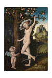 Cupid Complaining to Venus, C. 1525 Giclée-tryk af Lucas Cranach the Elder
