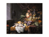 Still Life with Fruit and Oysters Giclee Print by Jacob van Walscapelle