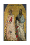 Saints Catherine and Bartholomew, Ca 1350 Giclee Print by Allegretto Nuzi