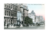Looking West Along Collins Street, Melbourne, Australia, 1912 Giclee Print