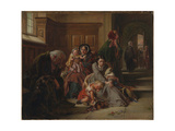 Waiting for the Verdict, 1859 Giclee Print by Abraham Solomon