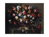 Small Basket of Flowers, 1671 Giclée-Druck von Juan de Arellano
