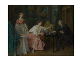 The Four Times of Day: Morning, C. 1740 Giclee Print by Nicolas Lancret