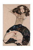 Black-Haired Girl with Lifted Skirt, 1911 Giclee Print by Egon Schiele