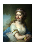 Portrait of Skobeyeva, 1790S Giclee Print by Vladimir Lukich Borovikovsky