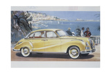 Poster Advertising a Bmw 502 Car, 1957 Giclee Print