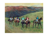 Racehorses in a Landscape, 1894 Giclee Print by Edgar Degas
