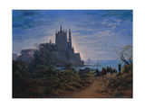 Gothic Church on a Rock by the Sea, 1815 Giclee Print by Karl Friedrich Schinkel