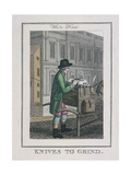 Knives to Grind, Cries of London, 1804 Giclee Print by William Marshall Craig