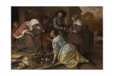 The Effects of Intemperance, Ca 1665 Giclee Print by Jan Havicksz Steen