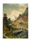 Alpine Landscape with a Bridge Giclee Print by Ferdinand Gatt