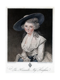 The Honourable Miss Bingham, 18th Century Giclee Print by Francesco Bartolozzi