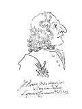 Caricature of Composer Antonio Vivaldi, 1723 Giclee Print by Pier Leone Ghezzi