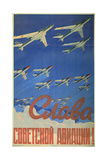Glory to the Soviet Aviation!, 1958 Giclee Print by Evgeni Stepanovich Solovyev