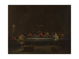 Seven Sacraments: Eucharist, Ca 1637-1640 Giclée-tryk af Nicolas Poussin