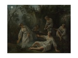 The Four Times of Day: Evening, C. 1740 Giclee Print by Nicolas Lancret
