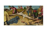 Christ Nailed to the Cross, Ca 1481 Giclee Print by Gerard David