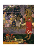 Ia Orana Maria (Hail Mar), 1891 Giclee Print by Paul Gauguin